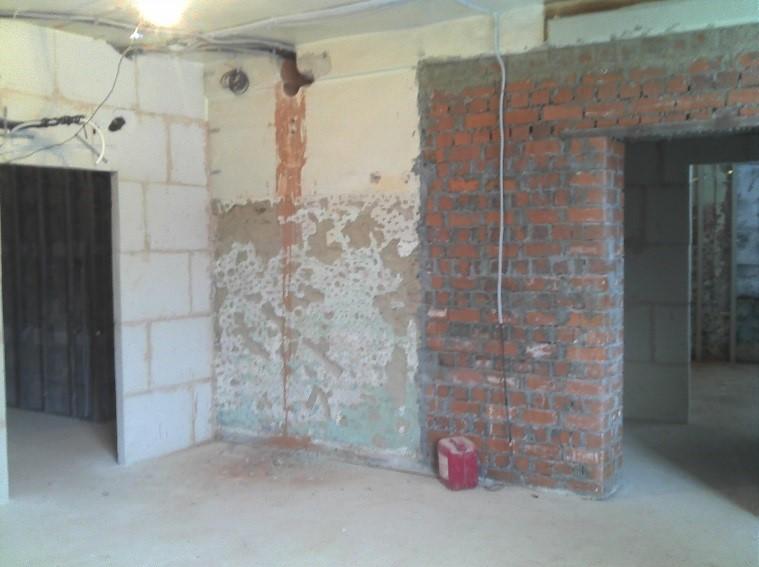 несущие стены в монолитно кирпичном доме